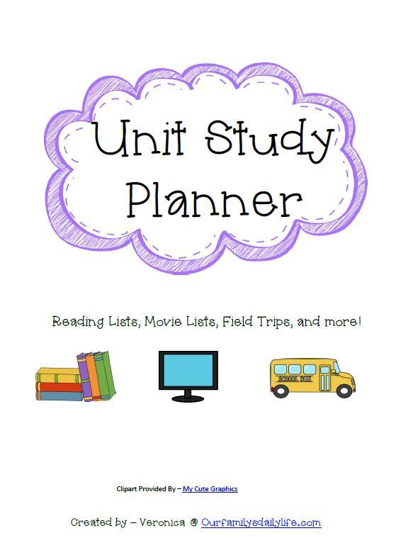 unit study planner 1