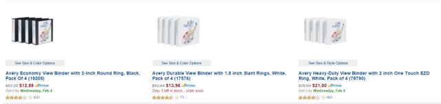 amazon binders