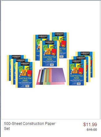 zulily construction paper