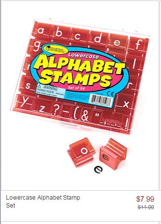 zulily sale alphabet stamp set