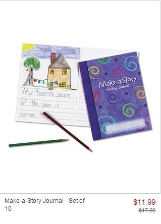 zulily sale make a story journal
