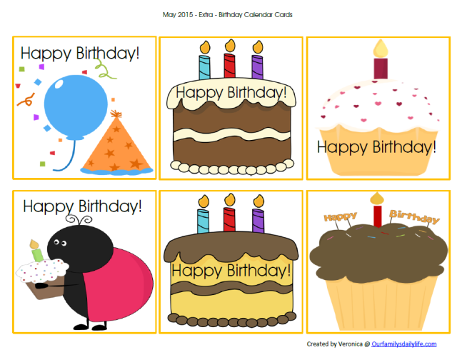 may calendar cards birthday picture
