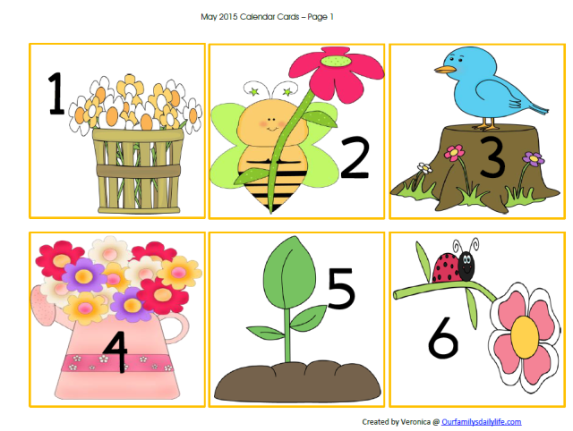 may calendar cards picture